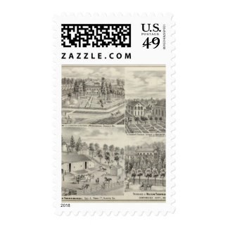 Residence of Milton Thornburgh Fayette Co Postage