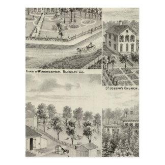 Residence of Milton Thornburgh Fayette Co Postcard