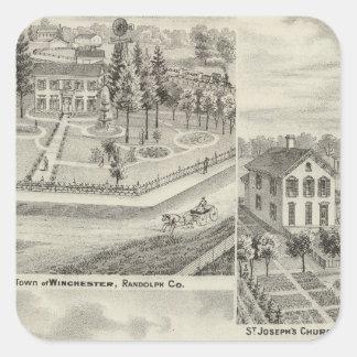 Residence of Milton Thornburgh Fayette Co Square Sticker