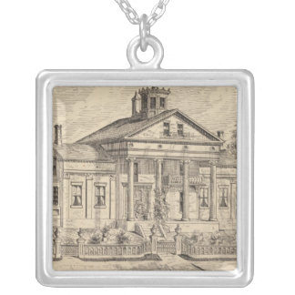 Residence of Mrs EE Marsh, Brandon in Vermont Silver Plated Necklace