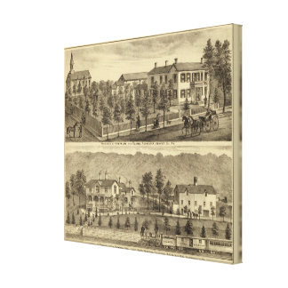 Residence of Steffler and Clark, Rochester Canvas Print
