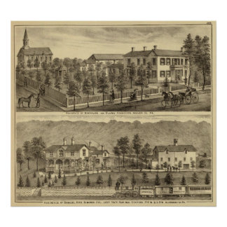 Residence of Steffler and Clark, Rochester Posters
