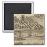 Residence of Taylor H Berry 2 Inch Square Magnet