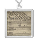 Residence of Taylor H Berry Square Pendant Necklace