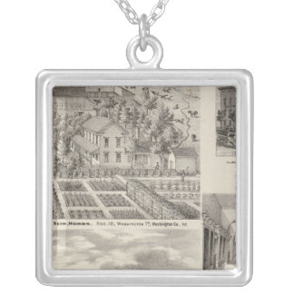 Residence of the late Dr Seth Hobbs Washington Co Silver Plated Necklace