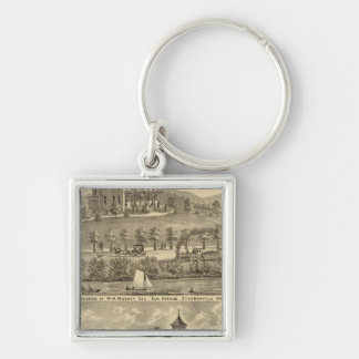 Residence of WH Mooney Keychain