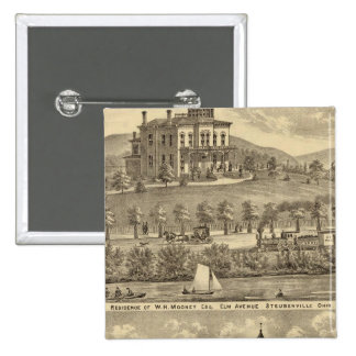 Residence of WH Mooney Pinback Button