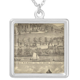 Residence of WH Mooney Square Pendant Necklace
