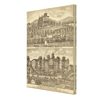 Residence of WH Mooney Stretched Canvas Prints