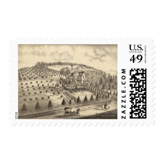 Residence of WH Pepper, Petaluma Tp Postage Stamp