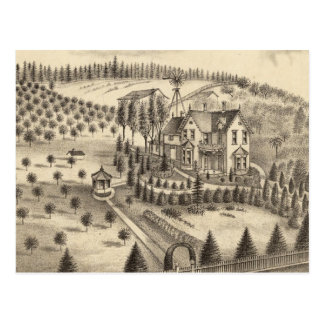 Residence of WH Pepper, Petaluma Tp Postcards