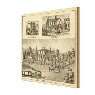 Residence of William Reed , Sewickley Canvas Print