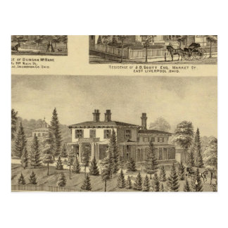 Residence of William Reed , Sewickley Postcard