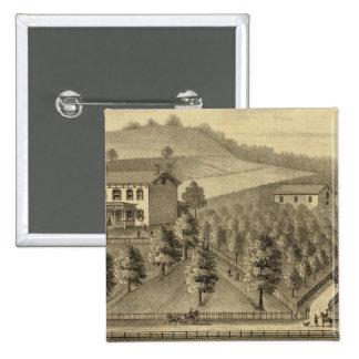 Residence of William Schrader Pinback Button