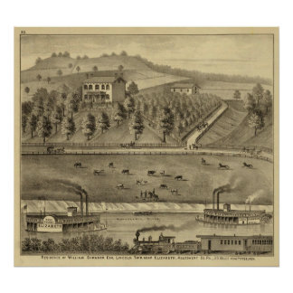 Residence of William Schrader Print