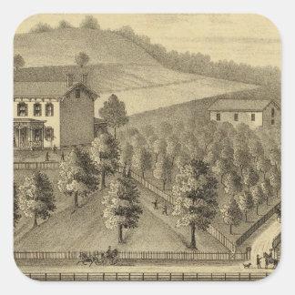 Residence of William Schrader Square Sticker
