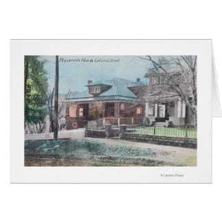 Residence Scene on Coloma Street Card