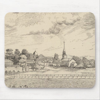 Residence, stables, and driving park mouse pad