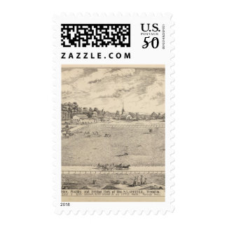 Residence, stables, and driving park postage
