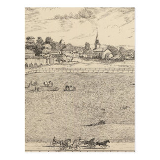 Residence, stables, and driving park postcard