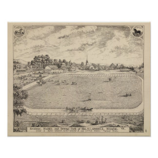 Residence, stables, and driving park poster