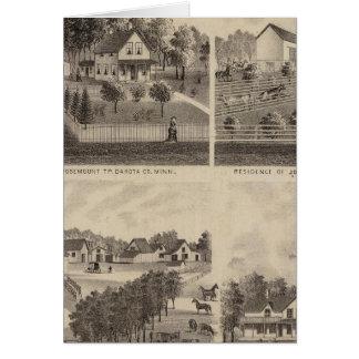 Residences and Barns, Minnesota Card