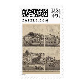 Residences and Barns, Minnesota Postage Stamp