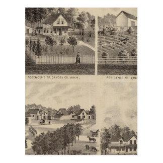 Residences and Barns, Minnesota Postcard