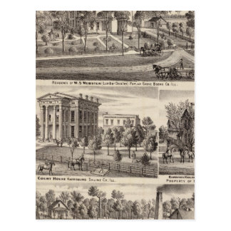 Residences and buildings in Poplar Grove Post Cards