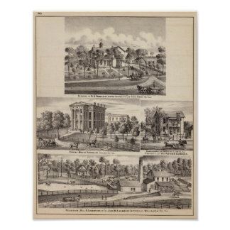 Residences and buildings in Poplar Grove Poster