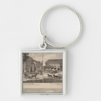 Residences and factory in Bennington Keychain
