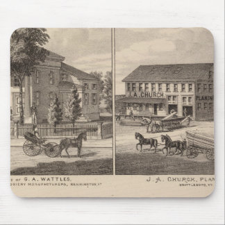 Residences and factory in Bennington Mouse Pad