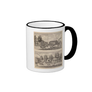 Residences and factory in Bennington Ringer Coffee Mug