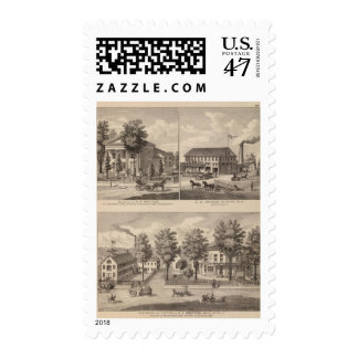 Residences and factory in Bennington Postage