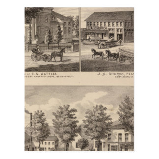 Residences and factory in Bennington Postcard