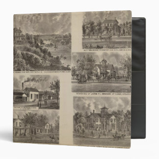 Residences and Factory in Minnesota 3 Ring Binder