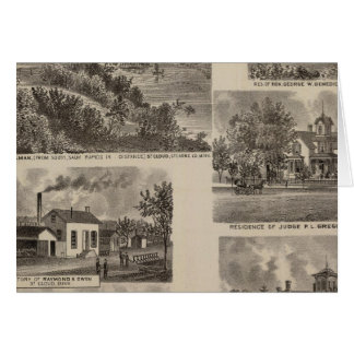 Residences and Factory in Minnesota Card