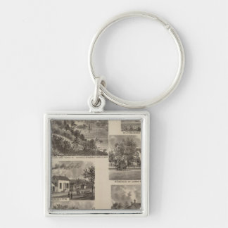 Residences and Factory in Minnesota Keychain