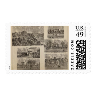 Residences and Factory in Minnesota Stamps