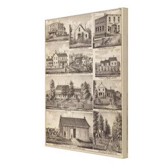 Residences and Farm Buildings, Owatonna, Minnesota Canvas Print