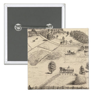 Residences and farm in New Haven 2 Inch Square Button