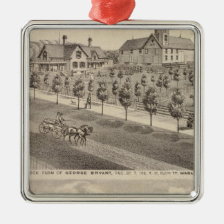Residences and Farm, Minnesota Christmas Tree Ornaments