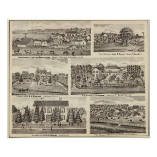 Residences and farm residences in Putnam Co 2 Poster