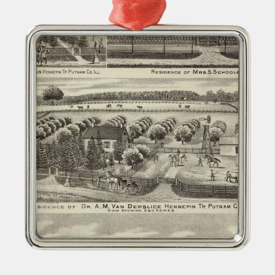 Residences and farm residences in Putnam Co Metal Ornament