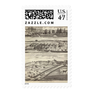 Residences and farm residences in Putnam Co Stamp