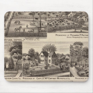 Residences and farms in Edgar, Hardin, Massac Mouse Pad