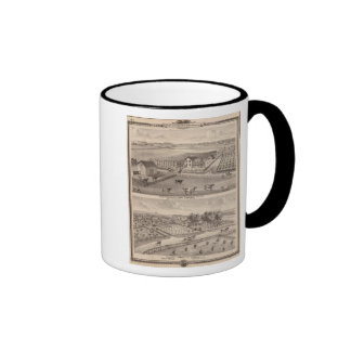 Residences and farms of J Canfield and J Wood Ringer Mug