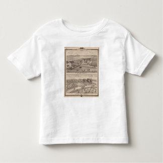 Residences and farms of J Canfield and J Wood Toddler T-shirt