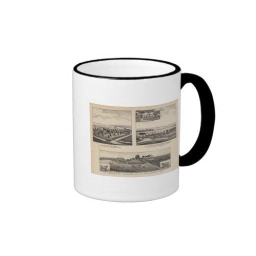 Residences and Farms, Pottawatomie, Kansas Coffee Mugs