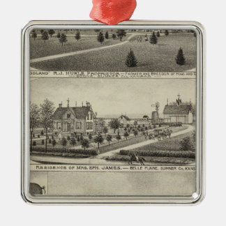 Residences and Farms Sumner County Kansas Ornament
